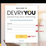 Devry Student Login step 2
