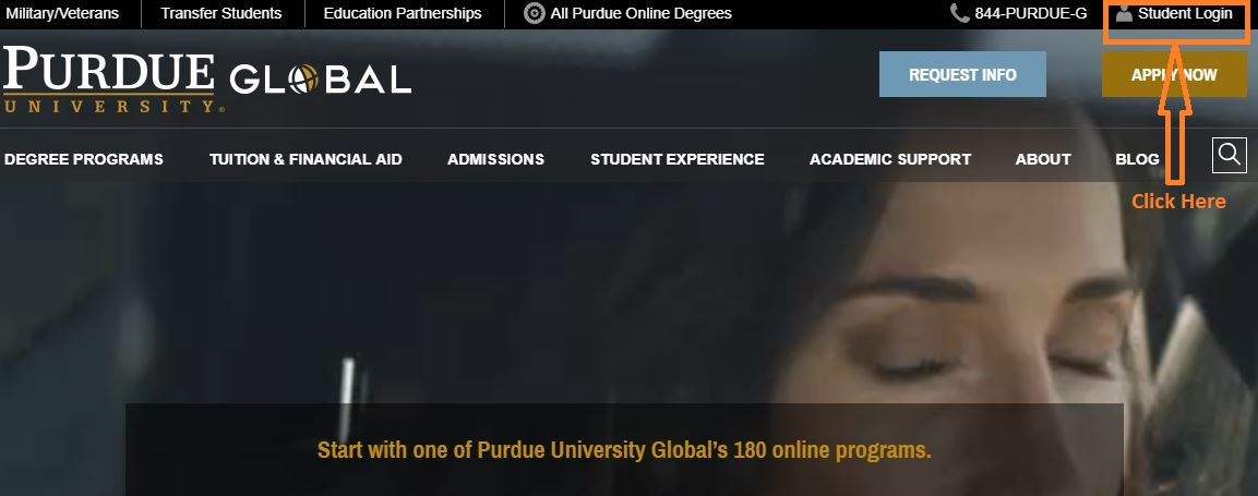 Purdue Student login step 1