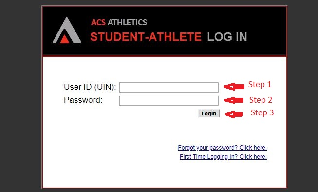 ACS Student Athlete Login