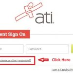 Ati Student login forgot password step 1
