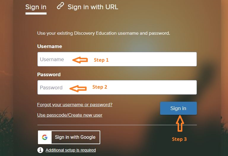 Discovery Education Student login