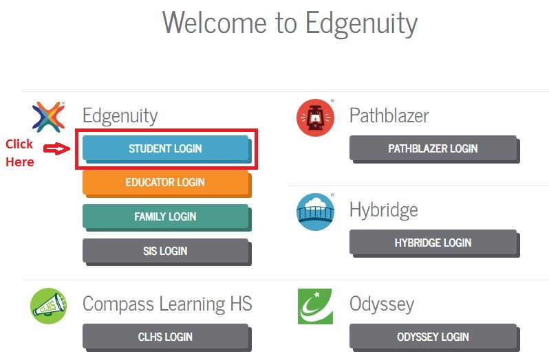 Edgenuity Student login step 1