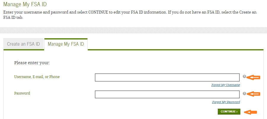 Federal Student Loans login forgot password step 2