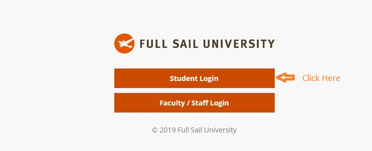 Full Sail Student login step 1