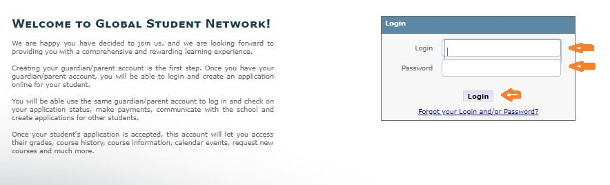 Gradpoint Student login step 2
