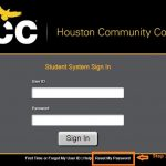 HCC Student login forgot password step 1