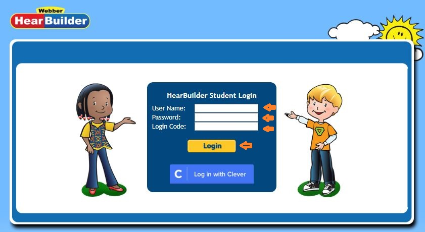 Hearbuilder Student login step 2