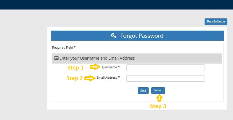 My Campus Link Student login forgot password step 2
