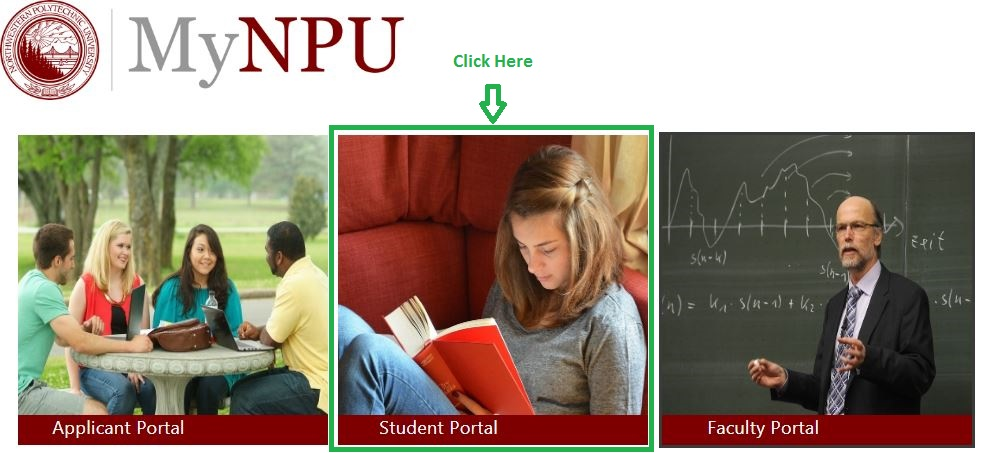 NPU Student login step 1