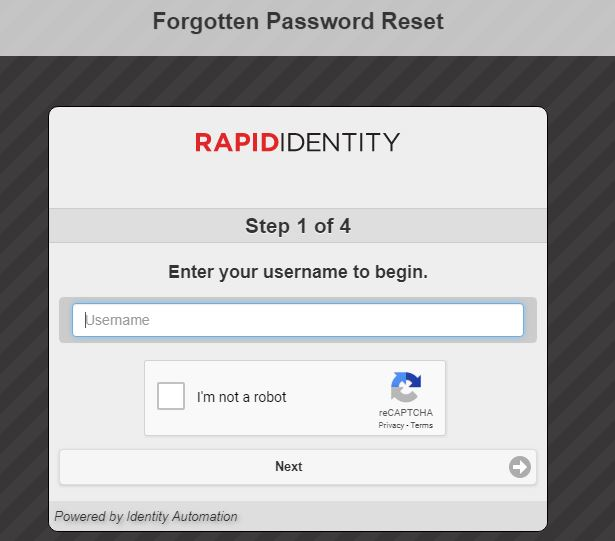 Ncedcloud Student Login forgot password step 3