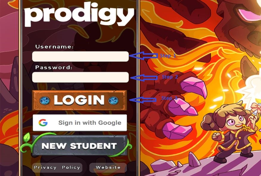 Prodigy Game Student login