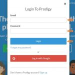 Prodigy Math Game Student login step 2