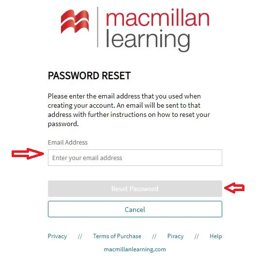 Sapling Learning Student login forgot password step 2