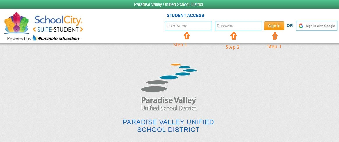 School CityStudent login