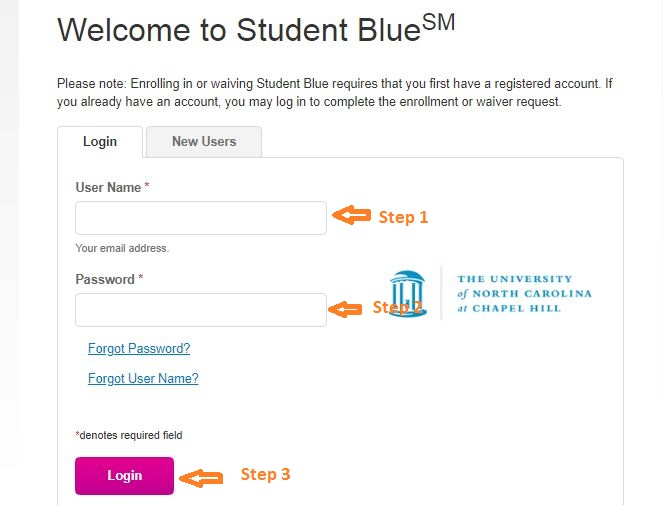 Student Blue Student login