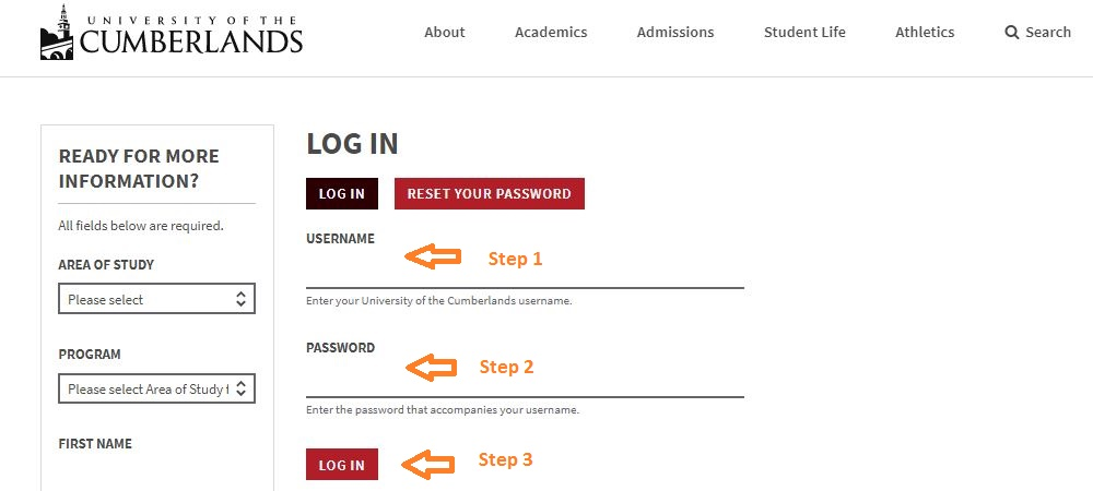 University Of Cumberlands Student login