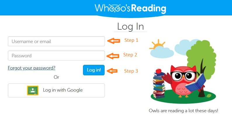 Whooos Reading Student login