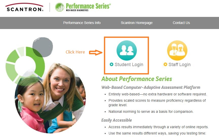 edperformance Student login step 1