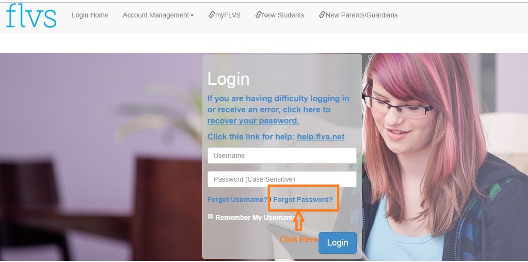 flvs Student login forgot password step 1