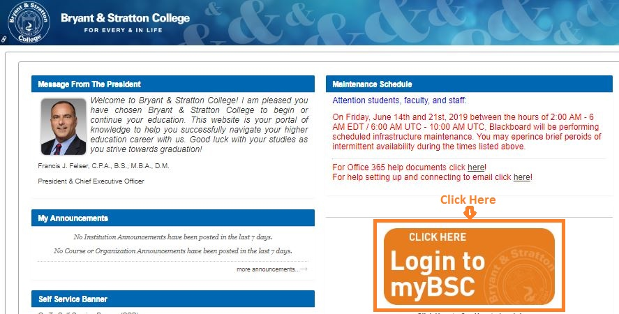 Bryant And Stratton Student Login Step 1