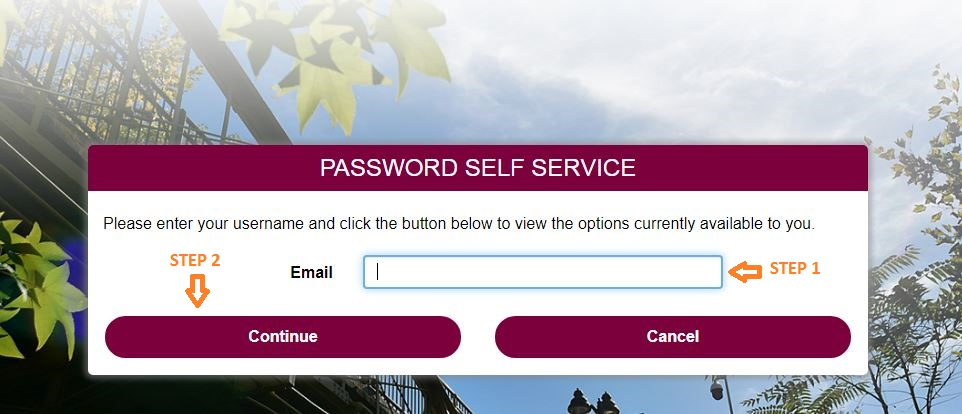 Central Penn College Student Login forgot password step 2