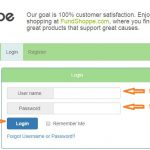 Fundshoppe Student Login Step 2