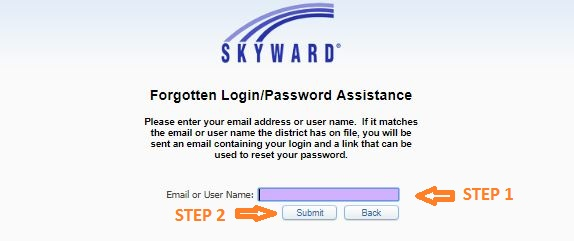 Skyward Fbisd Login forgot password step 2