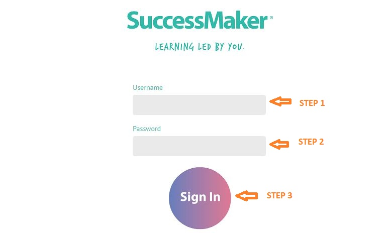 Successmaker Student Login Step 2