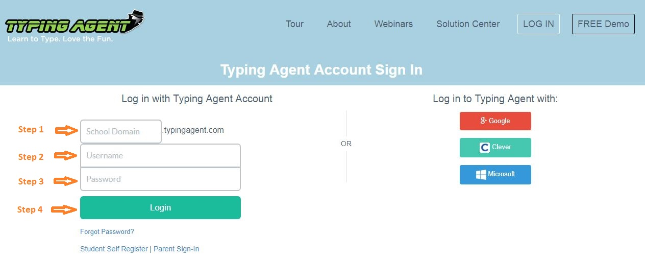 Typing Agent Student Login