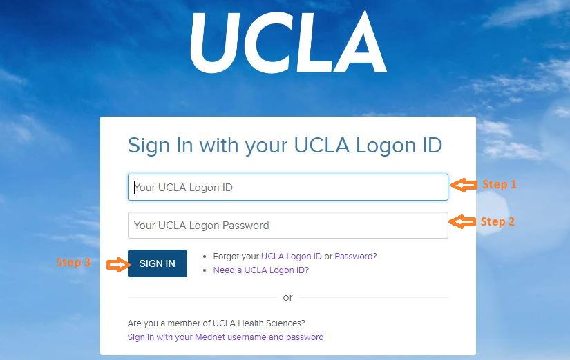 UCLA Student Login step 2